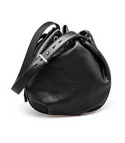c road blk bucket bag