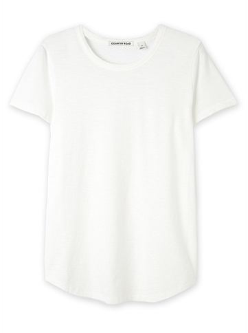 c road white slub tee