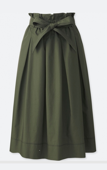 uniqlo kahki skirt
