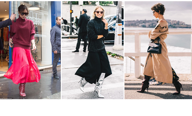 How to wear long boots \u0026 long skirts